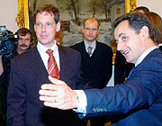 Le Premier ministre tchque Stanislav Gross avec Nicolas Sarkozy, photo: CTK