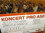 Benefiční koncert na pomoc Asii v pražské Lucerně (Foto: ČTK)