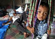Sirotek v uprchlickém táboře v severosumaterském městě Banda Aceh (Foto: ČTK)