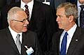 Václav Klaus a George W. Bush v Bruselu, Foto: ČTK