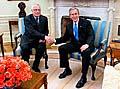 Václav Klaus und George W. Bush (Foto: CTK)