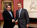 Jiri Paroubek (links) und Tony Blair (Foto: CTK)
