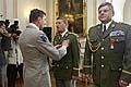 Pavel Stefka et Jan Durica ont été décorés des insignes d'officier de la Légion d'honneur par Henri Bentégeat, photo: CTK