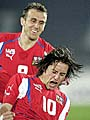 Karel Poborsky et Tomas Rosicky, photo: CTK