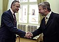 Foreign Minister Cyril Svoboda and Alexander Milinkevich, photo: CTK