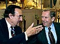 Philip Zimbardo et Vaclav Havel, photo: CTK