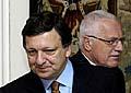 Le président de la Commission européenne, José Manuel Barroso, et le président tchèque Vaclav Klaus, photo: CTK
