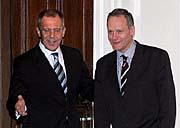 Sergueï Lavrov et Cyril Svoboda, photo: CTK