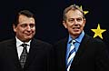 Tony Blair (rechts) und Jiri Paroubek (Foto: CTK)