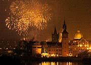 Oslavy Nového roku v Praze (Foto: ČTK)