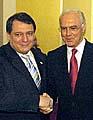 Premierminister Jiri Paroubek und Franz Beckenbauer (Foto: CTK)