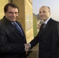 Prime Ministers Jiri Paroubek and Kazimierz Marcinkiewicz, photo: CTK