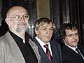 Vaclav Soucek, Jiri Franek und Adam Cerny (rechts), Foto: CTK