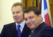 Prime Ministers Jiri Paroubek and Tony Blair, photo: CTK