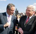 Cyril Svoboda und Frank-Walter Steinmeier (Foto: CTK)