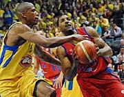 Finále Evropské ligy basketbalistů, foto: ČTK