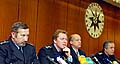 Ředitel policejní správy hl. m. Prahy Petr Želázko, policejní prezident Vladislav Husák (zleva), foto: ČTK