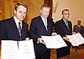 Martin Bursik, Mirek Topolanek und Miroslav Kalousek (v.l.n.r.), Foto: CTK