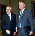 Präsident Vaclav Klaus (links) und ODS-Vorsitzender Vaclav Klaus (Foto: CTK)