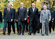 Laszlo Solyom, Ivan Gasparovic, Vaclav Klaus and Lech Kaczynski, photo: CTK