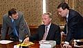 Zleva: Petr Nečas, Mirek Topolánek a Alexandr Vondra, foto: ČTK
