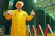 Prezident Václav Klaus v Jaderné elektrárně Dukovany, foto: ČTK