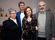 From left: Jan and Zdenek Sverak, actresses Lilian Malkin and Irina Bezrukov, photo: CTK