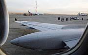 Die Militärmaschine nach der Landung in Prag (Foto: CTK)
