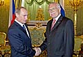 Vladimir Poutine et Vaclav Klaus, photo: CTK