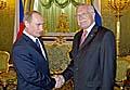 Vladimir Putin und Vaclav Klaus (Foto: CTK)