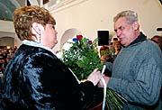 Jana Volfova mit Ex-Premier Milos Zeman (Foto: CTK)