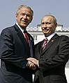 George W. Bush et Vladimir Poutine, photo: CTK