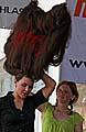 Blanka Hašková vytvořila účes ovýšce téměř 65 centimetrů, foto: ČTK