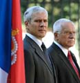 Boris Tadic et Vaclav Klaus, photo: CTK