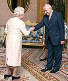 Queen Elizabeth II and Vaclav Klaus, photo: CTK