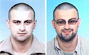 Dřívější podoba Františka Procházky (vlevo), vsoučasnosti by mohl mít odrostlejší vousy.  Foto: ČTK