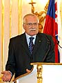 Prsident Vclav Klaus (Foto: Tk)