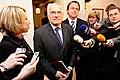 Václav Klaus bei den Grünen (Foto: ČTK)