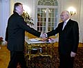 Prsident Vclav Klaus (rechts) mit Premier Mirek Topolnek (Foto: TK)