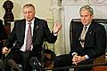 Mirek Topolánek a George Bush, foto: ČTK