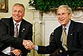 Mirek Topolnek et George W. Bush, photo: CTK