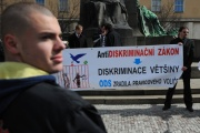 Demonstrace nacionalistické Národní strany (Foto: ČTK)