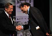 Václav Havel a Eric Bergkraut, foto: ČTK