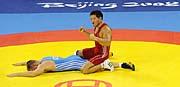 Марек Швец и казахский борец Ассет Мамбетов (Фото: ЧТК)