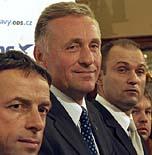 Zleva: Pavel Bém, Mirek Topolánek aIvan Langer, foto: ČTK