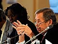 Rama Yade et Václav Havel, photo: CTK