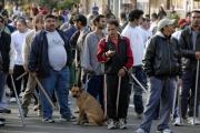 Ozbrojení Romové ze sídliště Janov sledují vývoj pochodu extremistů (Foto: ČTK)