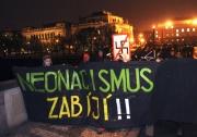 Demonstrace Stop neonacismu - Posviťme si na neonacisty (Foto: ČTK)