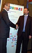 Martin Říman (à droite) avec le vice-président de Gazprom, Alexander Medvedev, photo: CTK