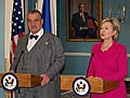 Karel Schwarzenberg et Hillary Clinton, photo: CTK